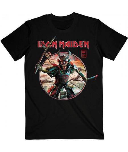 Tricou Unisex Iron Maiden: Senjutsu Eddie Warrior Circle