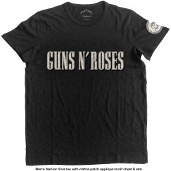 Guns N' Roses: Logo & Bullet Circle (tricou cu patch)