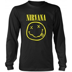 Nirvana: Smiley Logo (tricou maneca lunga)