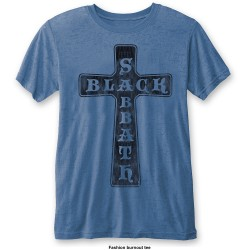 Black Sabbath: Vintage Cross (tricou burn out)