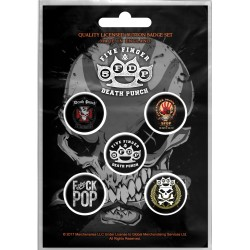 Five Finger Death Punch: Logos (Set Insigne - 5 Buc.)