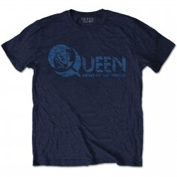 Tricou Unisex Queen: News Of The World 40th Vintage Logo