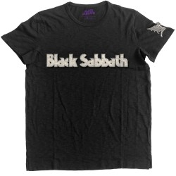 Black Sabbath: Logo & Daemon (tricou cu patch)