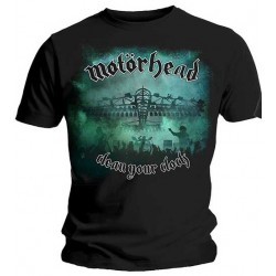 Tricou Motorhead: Clean Your Clock Green