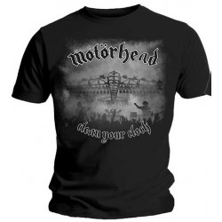 Tricou Motorhead: Clean Your Clock B&W