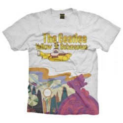 Tricou The Beatles: Yellow Submarine Logo & Scenery