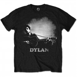 Tricou Bob Dylan: Guitar And Logo