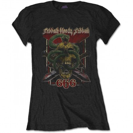 Tricou Dama Black Sabbath: Bloody Sabbath 666