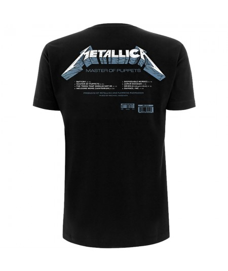 Tricou Metallica: Master Of Puppets Tracks