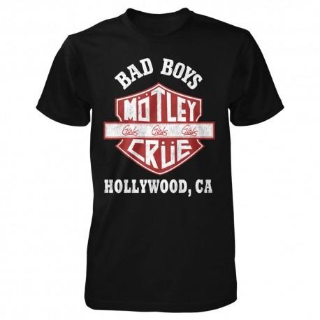 Tricou Motley Crue: Bad Boys Shield