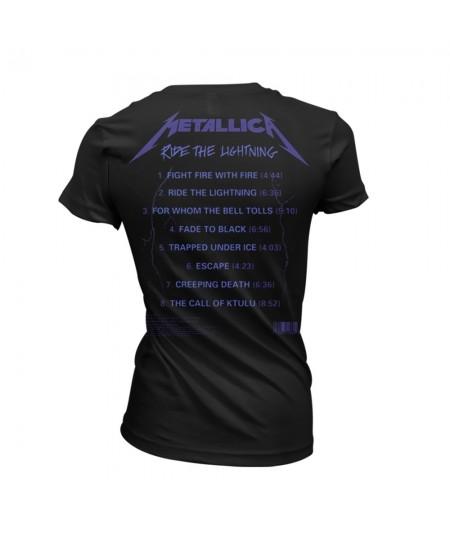 Tricou Dama Metallica: Ride The Lightning Tracks