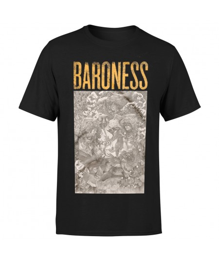 Tricou Baroness: Gold & Grey