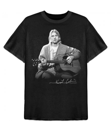 Tricou Unisex Kurt Cobain: Guitar Live Photo