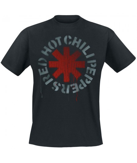 Tricou Unisex Red Hot Chili Peppers: Stencil